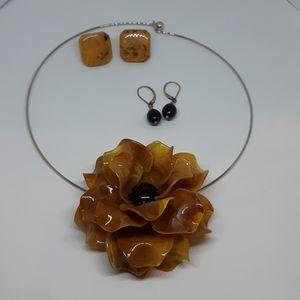 Vintage Bakelite and 1970's Jewelry Lot